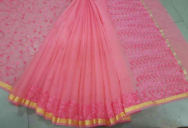 Kota Cotton with woolen thread embroidery Sarees | Buy Online kota Sarees | Elegant Fashion Wear