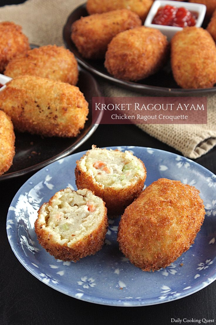 Kroket Ragout Ayam – Chicken Ragout Croquette