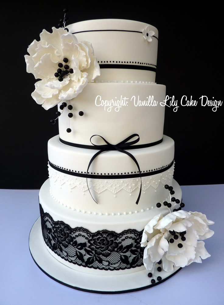 Vanilla Lily Cake Design: wedding cakes