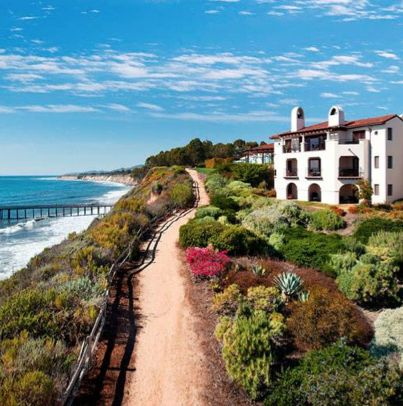 Stay at one of the Mediterranean-style oceanfront villas in sunny Santa Barbara for a romantic beach getaway.