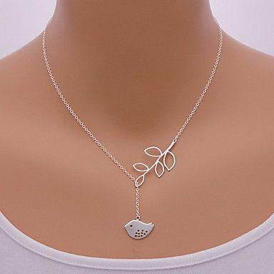 shixin® mode fågel bladform hängsmycke halsband (1 st) – SEK Kr. 16