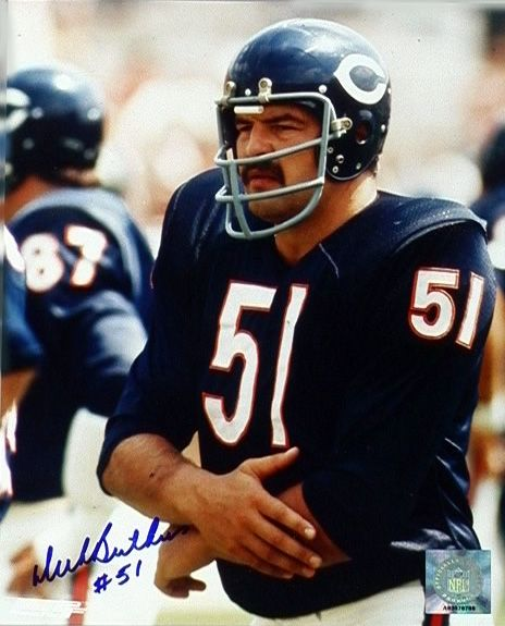 dick butkus linebacker for the chicago bears considered one of the best of all