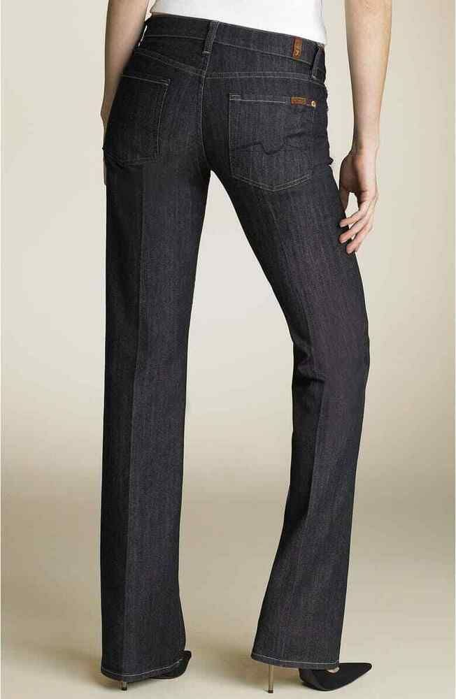 New 7 For All Mankind Jeans Size 30 Uk 12 34 034 Leg Low Waist