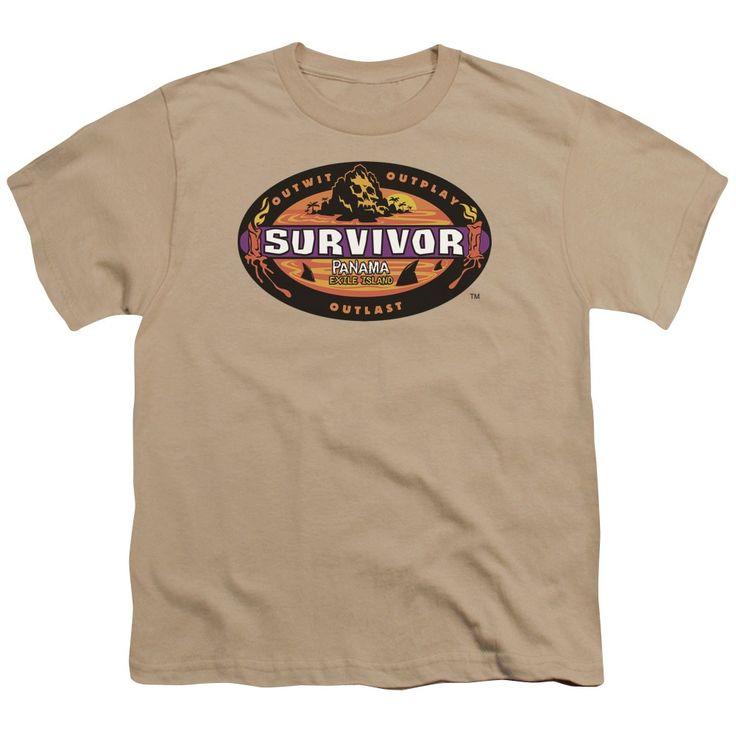 Survivor/Panama Short Sleeve Youth 18/1 in Sand