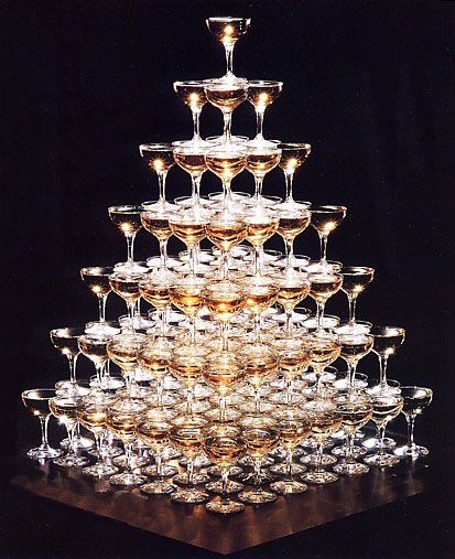 Champagne Tower  Now all I have to do is like champagne or find something more fun