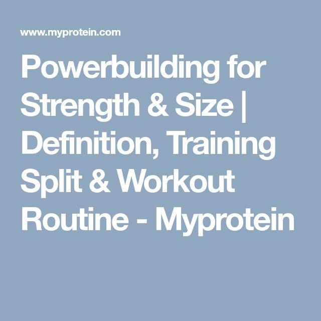 Powerbuilding for Strength & Size | Definition, Training Split & Workout Routine - Myprotein
