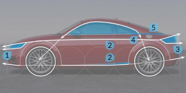 아우디 TT의 비례감을 간단한 라인으로 표현한 이미지입니다 초보자가 모델링 연습하기에 가장 좋은 TT모델로 스케치 연습까지 되는 것 같습니다