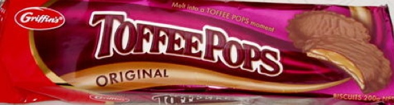 Toffee Pops-  another Kiwi chocolate treat  Toffee covered in chocolate, like the Mallow Puffs these are simply addicting.