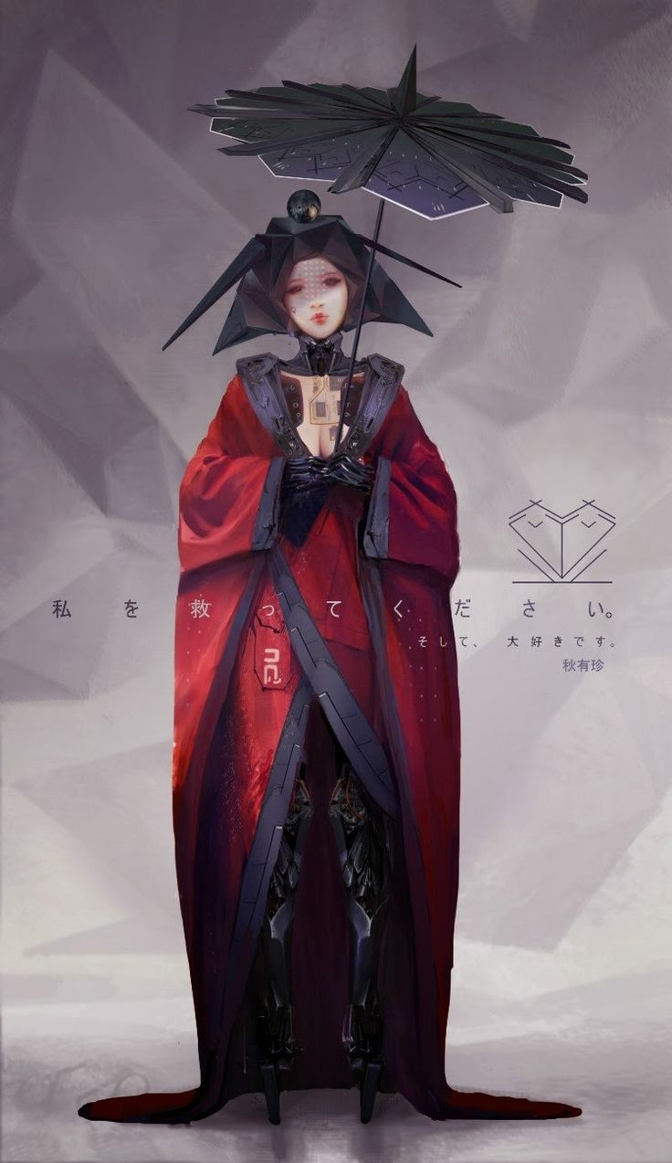 Kimono_mech_girl, Yujin Choo on ArtStation at https://www.artstation.com/artwork/kimono_mech_girl