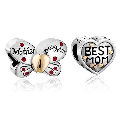 Valentines Day Gifts Pugster 2 Love Bead Charm Bundle Sets 22k Gold Mother Daughter Heart Butterfly Beads Fits Pandora Bracelet Pugster. $12.99. Unthreaded European story bracelet design. Fit Pandora, Biagi, and Chamilia Charm Bead Bracelets. Money-back Satisfaction Guarantee. Perfect gift for Christmas. Free Jewerly Box