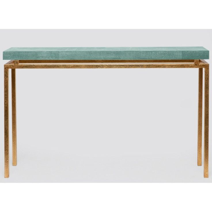 Made Goods Benjamin Realistic Faux Shagreen Narrow Console Table