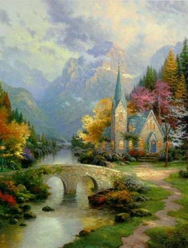 129 Best Kincade Paintings Images On Pinterest Art