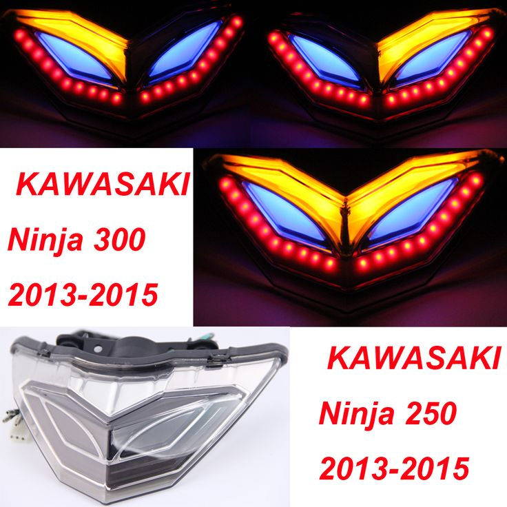 !!!Special Design all over the world-Tail light integrated Turn Signals for KAWASAKI NINJA 300R EX300 2015