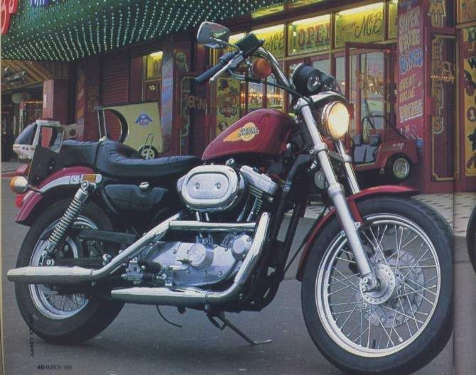 The 1992 My Harley Davidson Has At Its Heart An Air Cooled Four Stroke 1202c Harley Davidson Sportster 1200 Harley Davidson Sportster Harley Davidson Bikes