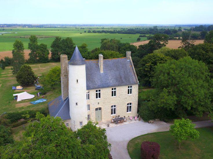 Le chateau de monfreville north west france brittany normandy original