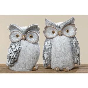 Zestaw 2 obiektów dekoracyjnych Owl Biggy
