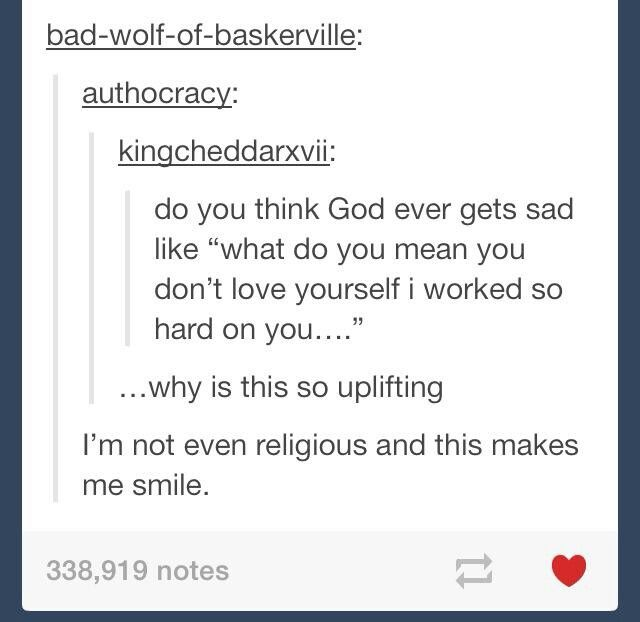 I'm religious, and it makes me happy to see this. << Not religious but this is so nice to see.