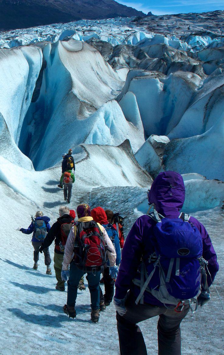 Trekking Argentina's Perito Moreno #Glacier  mountain biking glaciers ... hummm  surlybikes.com/...