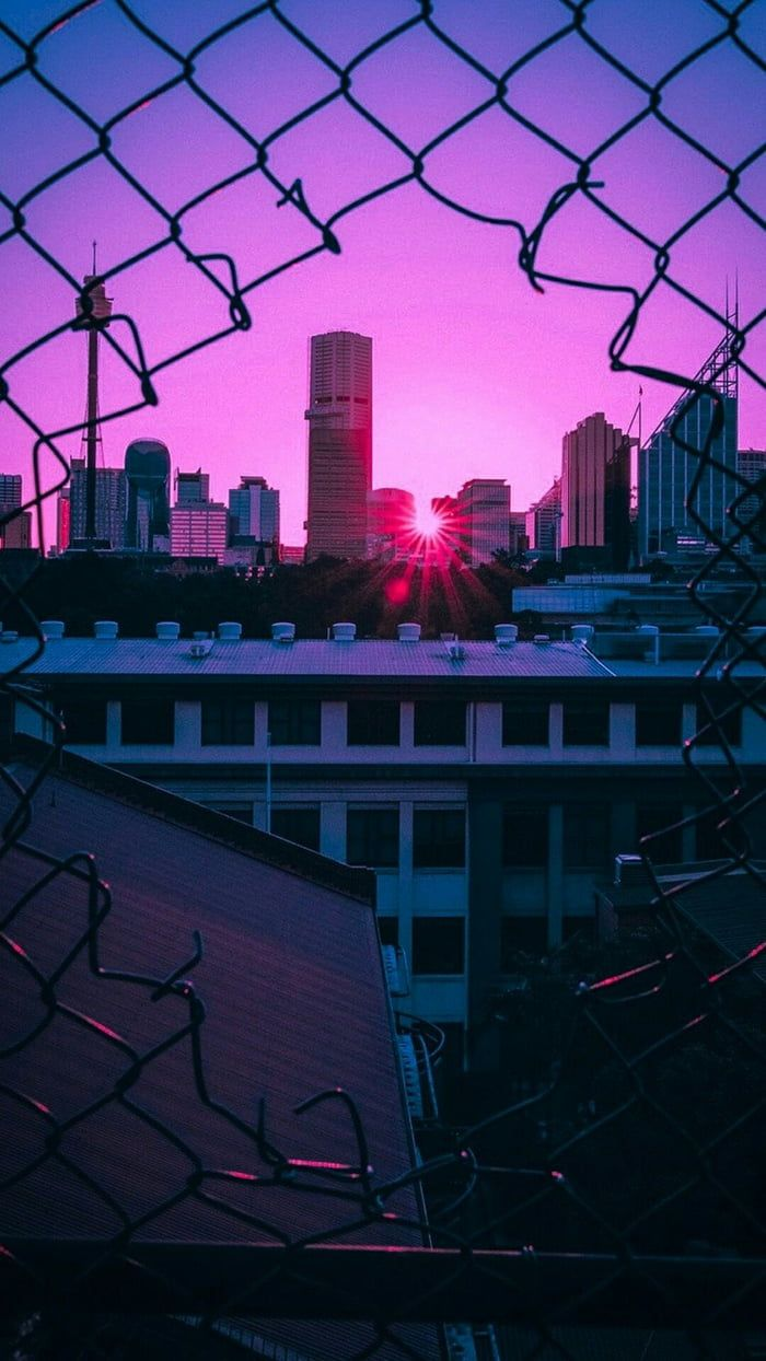Dark purple aesthetic wallpaper city