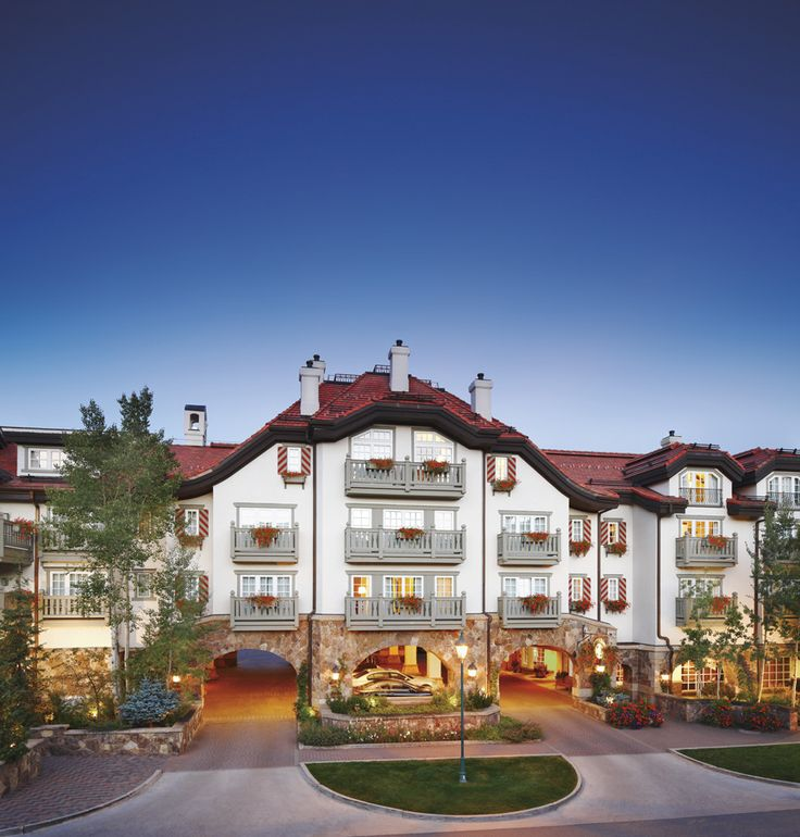 The Sonnenalp Hotel in Vail, Colorado. Family-owned and known for world-class service and amenities just steps from the slopes of Vail. A member of Leading Hotels of the World. #vailhotels
