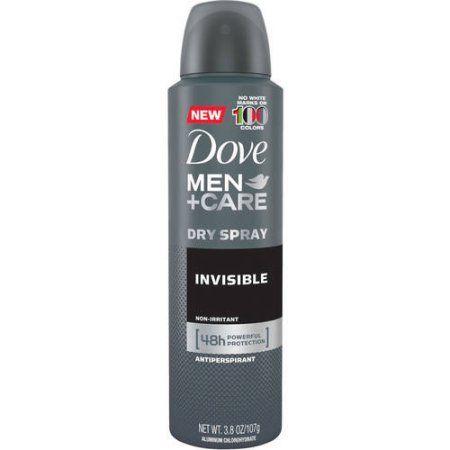 Dove Men + Care No White Marks Invisible Antiperspirant Dry Spray, 3.8 oz