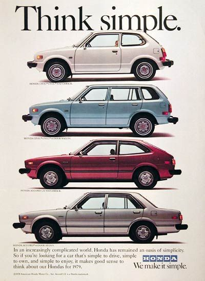 '79 Honda Ad- I remember my dad picking me up in the light blue one.. from Kindergarten!