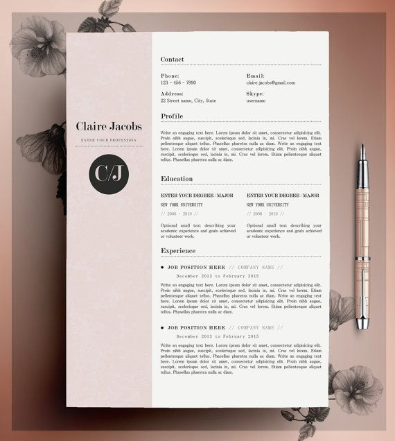 template resume word design creative simple latex sample objectives