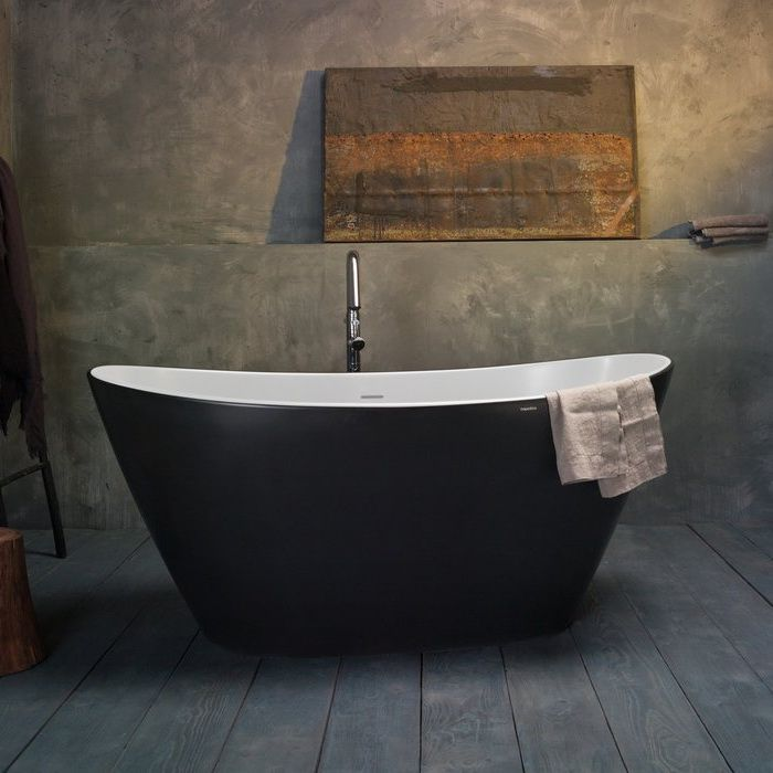 Colored Bathtubs In 2020 Black Bathtub Modern Bathroom Small