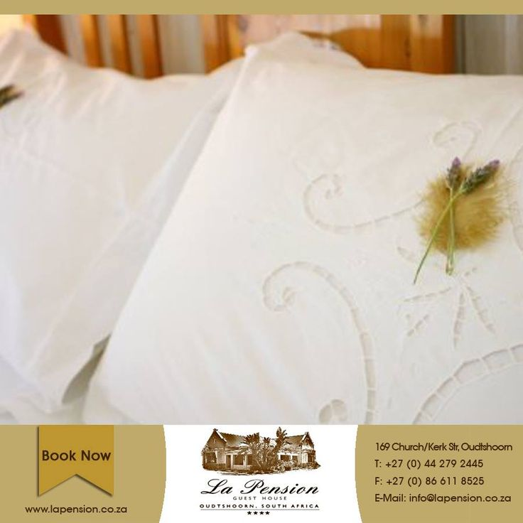 """Luxury lives in the finer details. It's a cloth napkin at a dinner table. It's a mint on your pillow before bed"" - Iggy Azalea  At La Pension, we know that it is all in the details... #service #comfort #accommodation"