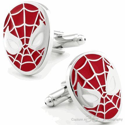 Spiderman Stoic Face Mask Cufflinks by Cufflinksman