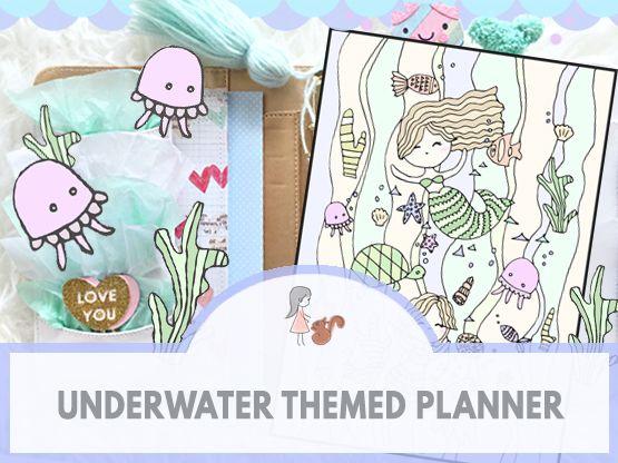 Underwater Themed Planner | www.sweetestchelle.com