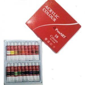 Ponart Troya Akrilik Boya 18 Renk x 12 ml.