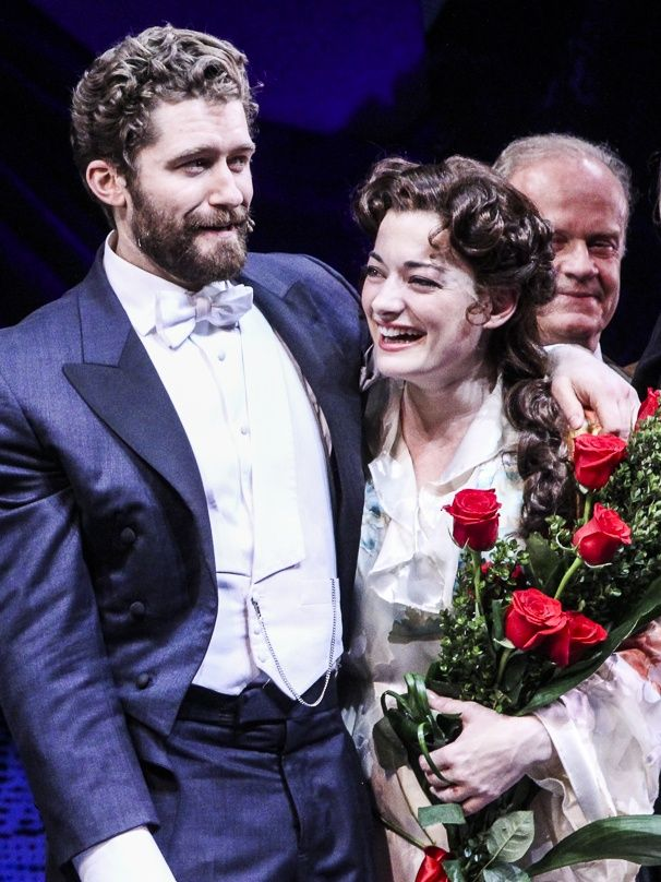 Matthew Morrison and Laura Michelle Kelly on opening night of FINDING NEVERLAND