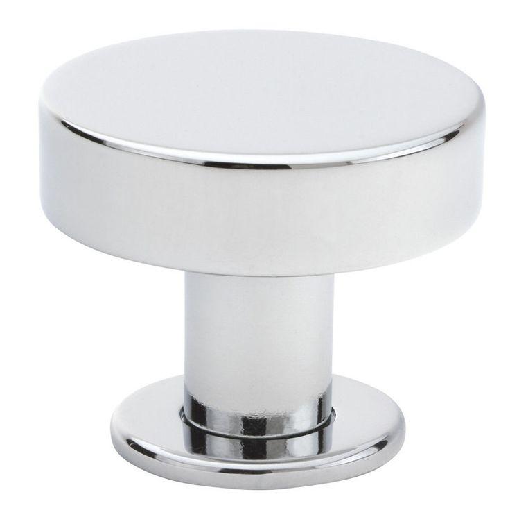 emtek 86322us26 polished chrome cadet 125 mid century modern solid brass cabinet knob 21