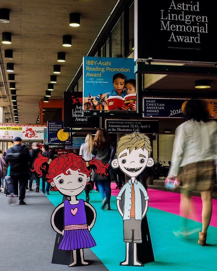 Mimi & Fergus attending the Bologna Children's Book Fair, Italy. Day 1.