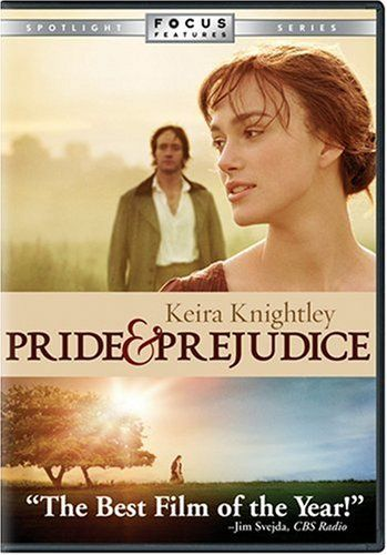 Pride & Prejudice 2005 DVD on Amazon