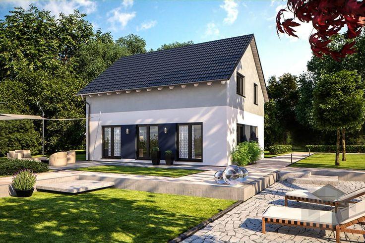 Euro Star 130 A von Bärenhaus ➤ Alle Häuser unter: https://www.fertighaus.de/haeuser/suche/ Fertighaus, Einfamilienhaus, Fertigteilhaus, Eigenheim, Fertigbau, Haustypen, Hausbau, Einfamilienhaus, Eigenheim, Satteldach-Klassiker, Satteldach