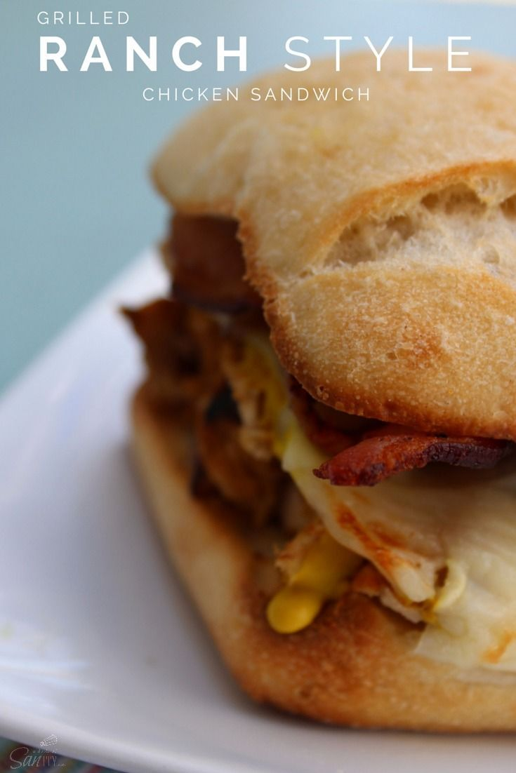 Ranch style, Chicken sandwich and Sandwiches on Pinterest