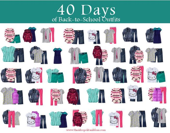Back to School Fashion for Kids: 15 Items, 40 Looks #FashionFriday - Afropolitan Mom
