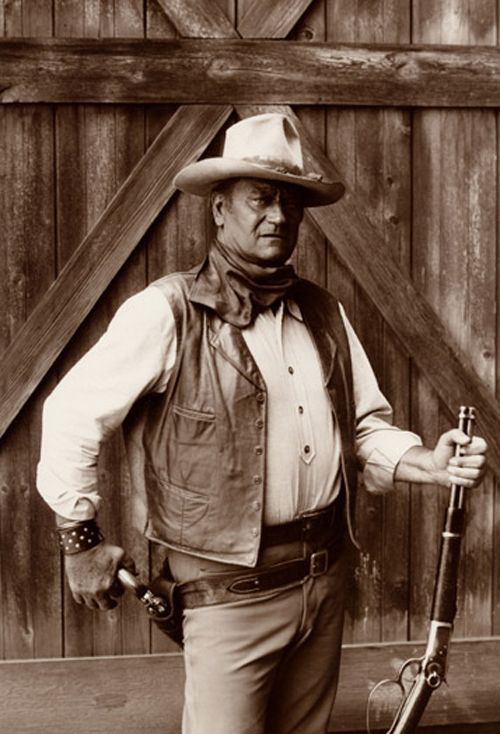 John Wayne - The Cowboys  1972.  He was one of my favorite actors way back then.  I loved the westerns, but now they are so outmoded.  I DARE you to watch one.