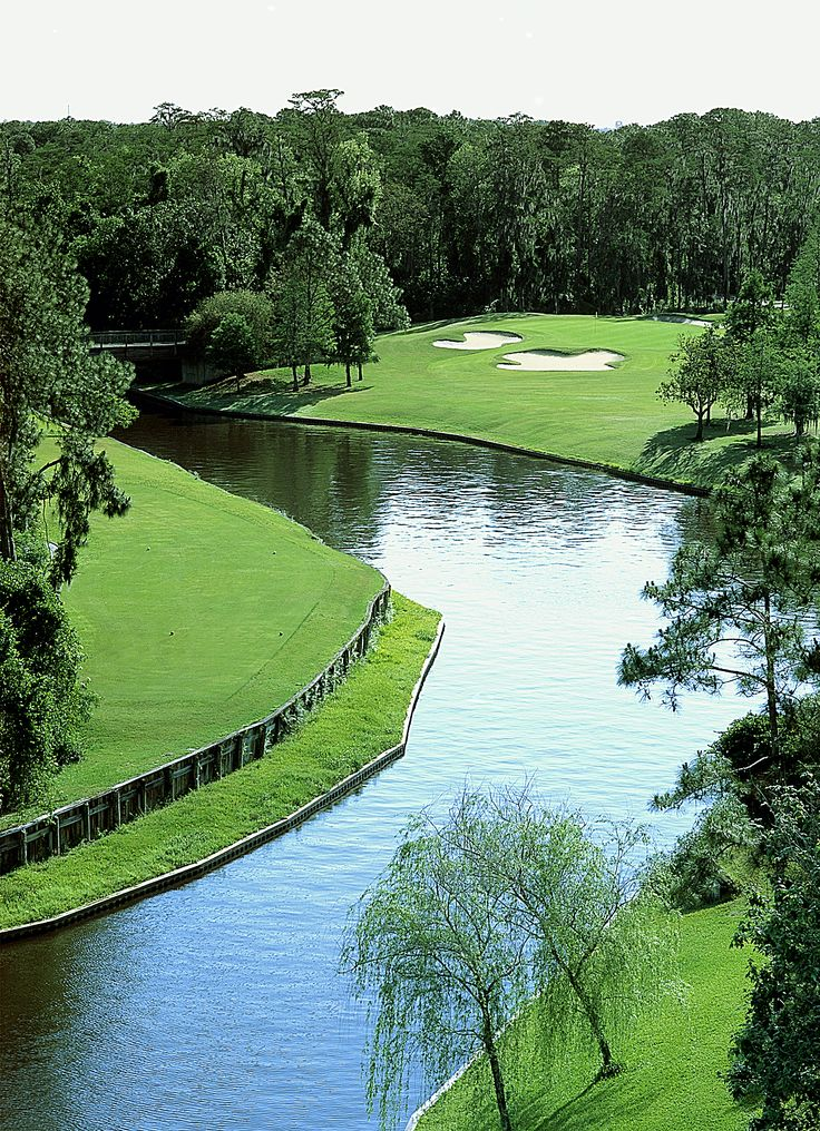 Walt Disney World Resort's Lake Buena Vista Golf Course in Orlando, Florida ~ America's Top 75 Resorts & rated 4 1/2 stars by Golf Digest with tropical Florida scenery with a classic country club layout. Disney's Lake Buena Vista embodies the natural character of the land while winding its way through pastel villas, pine forests, palmettos, sparkling lakes and other wonders of nature.
