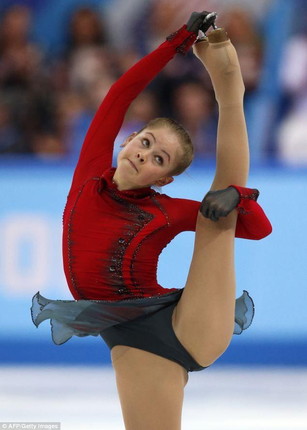 Bendy: Russia's Julia Lipnitskaia performs her amazing routine