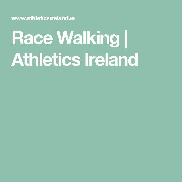 Race Walking | Athletics Ireland