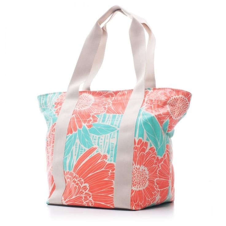 Bags & Totes: City Tote Orange Salmon $87