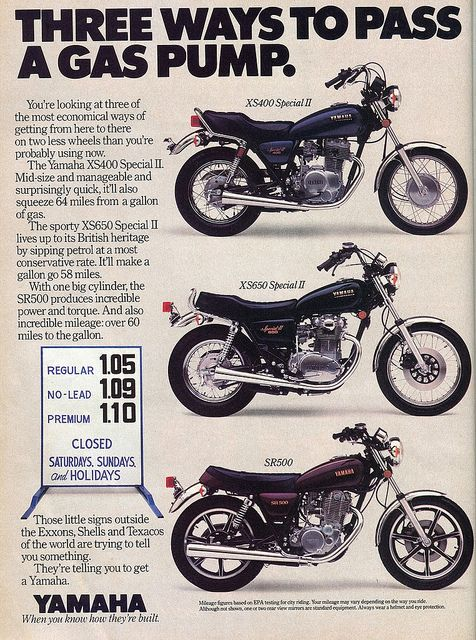 1980 Yamaha Motorcycles-XS400-XS650-SR500 Ad in Popular Mechanics - February 1980 by SenseiAlan, via Flickr