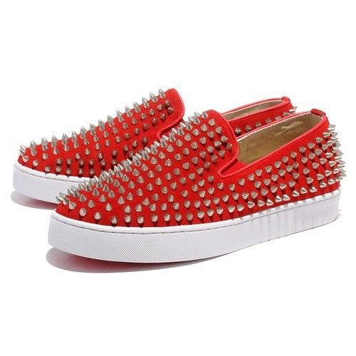Chaussure Louboutin Pas Cher Homme Rouge Rivet #redbottomshoes