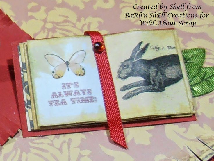 BaRb'n'ShEllcreations - Alice in Wonderland's Book  - created by Shell for Wild About Scrap
