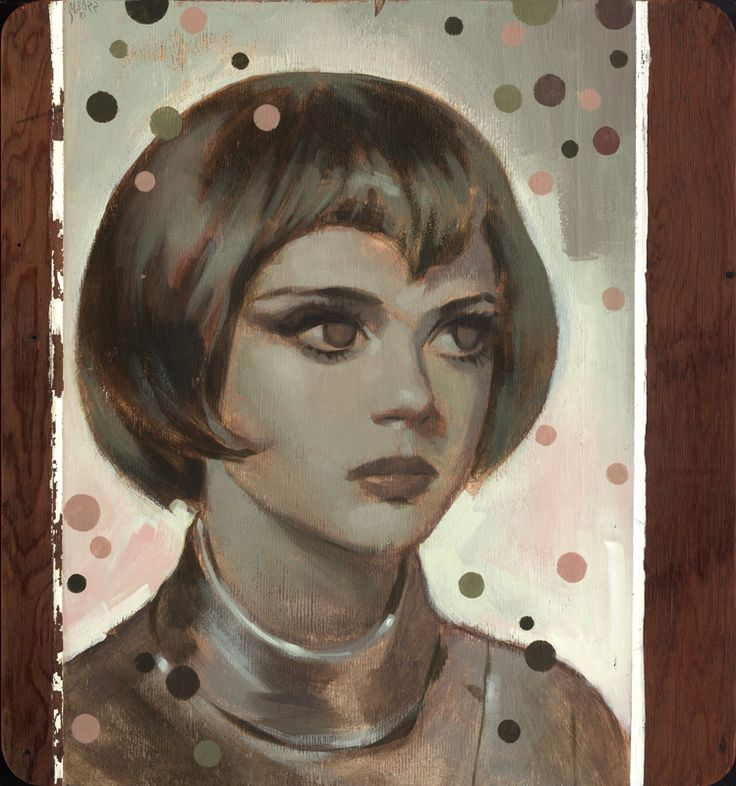 Painting of sci-fi actress Gabrielle Drake