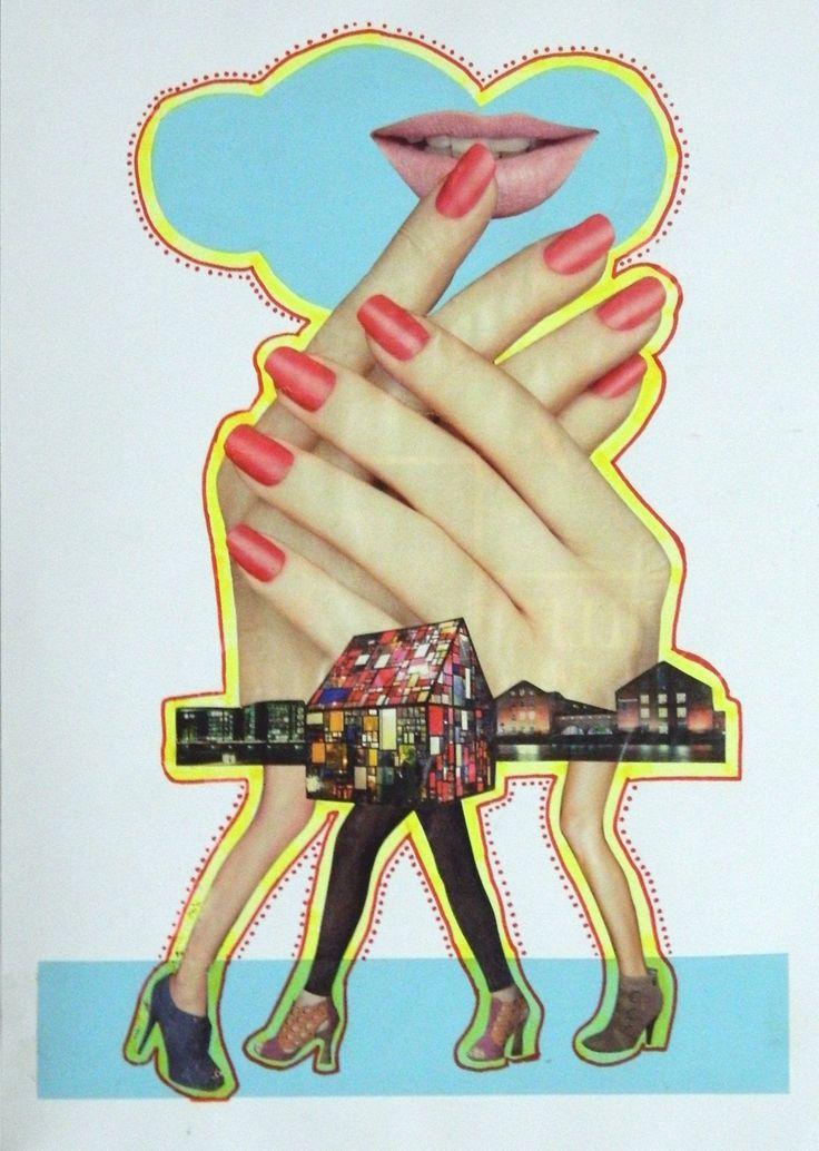 """Sem título"", 2014. Colagem sobre papel."