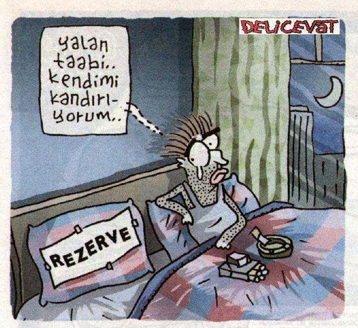 Yalan taabi... kendimi kandırıyorum..  (Reserve)  #karikatür #mizah #matrak #komik #espri